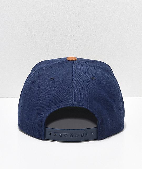 29df743cda5 ... Brixton Oath III Tan   Navy Snapback Hat ...