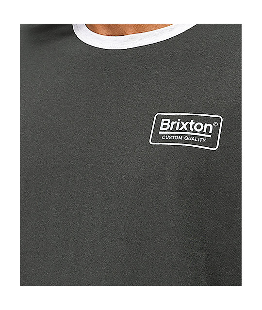 Brixton Palmer Black Washed T-Shirt