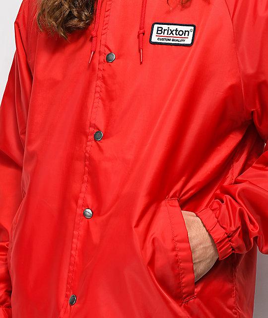 ... Brixton Palmer Hooded Red Coaches Jacket ... 5dfa396cff8