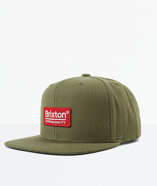 68b17e29e1b Brixton Palmer II MP Olive Snapback Hat