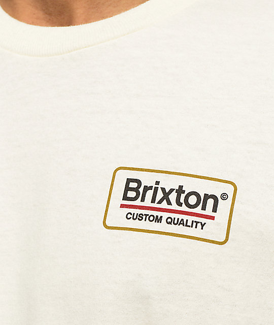 Brixton Palmer Off White T-Shirt