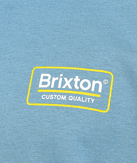 Brixton Palmer Slate Blue & Yellow T-Shirt