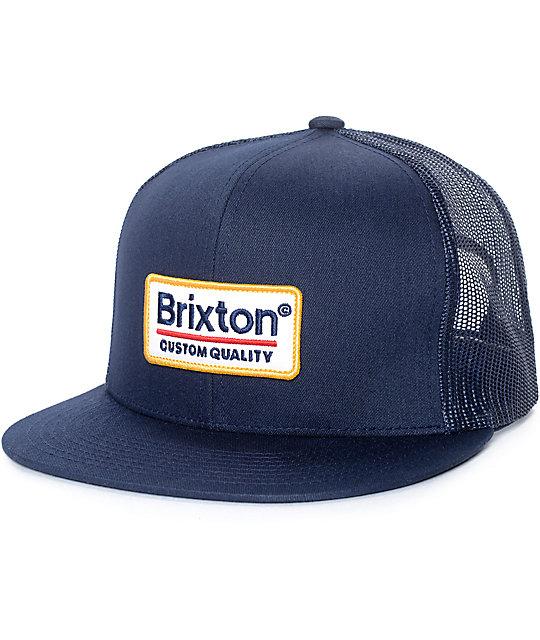 Brixton Palmer gorra trucker en blanco y azul marino ... 2032aba7090