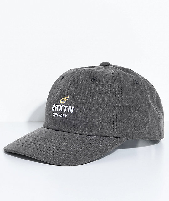 Brixton Peabody Charcoal Strapback Hat
