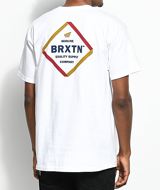 Brixton Peabody White T-Shirt
