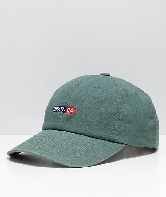 Brixton Peg Chive Green Strapback Hat  81e7b6ba3cc