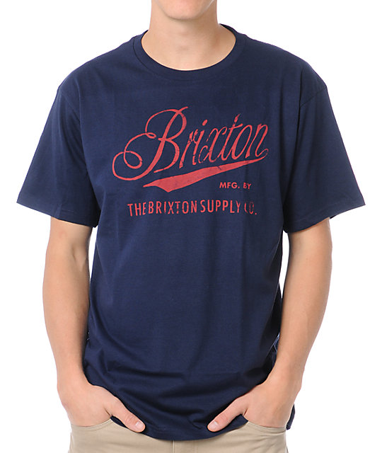 Brixton Pike Navy Blue T-Shirt