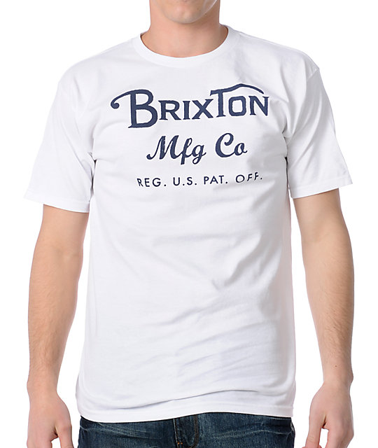 Brixton Press White T-Shirt