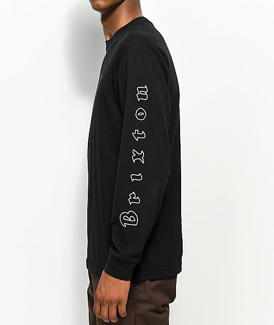Brixton Primo Black Long Sleeve T-Shirt