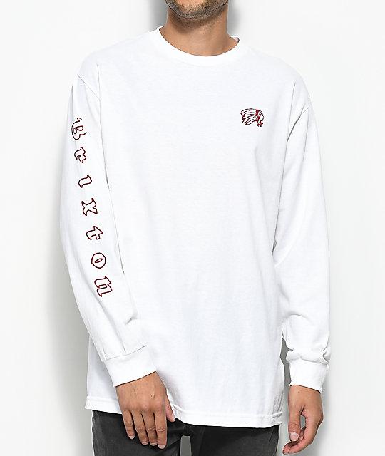 3ff7fb32156e Brixton Primo Long Sleeve White T-Shirt   Zumiez.ca