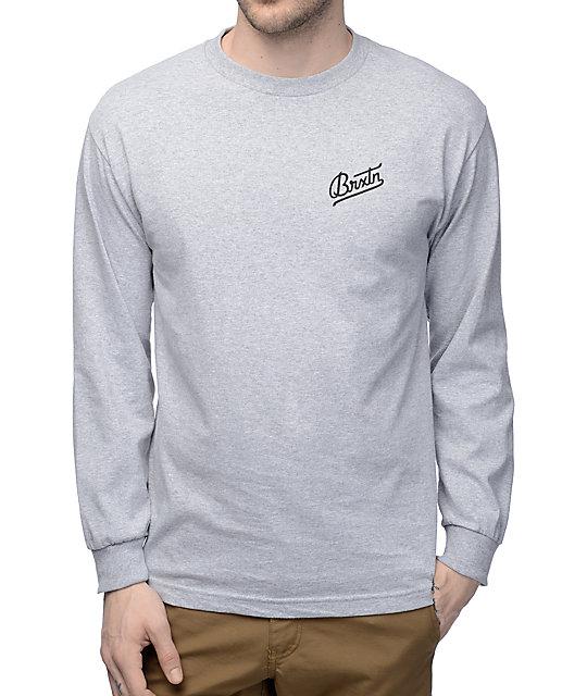 Brixton Reggie Athletic Grey Long Sleeve T-Shirt  cf904c83d2c