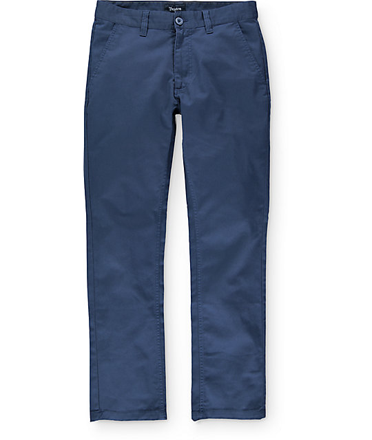 Brixton Reserve Navy Chino Pants  93f6eceb93c