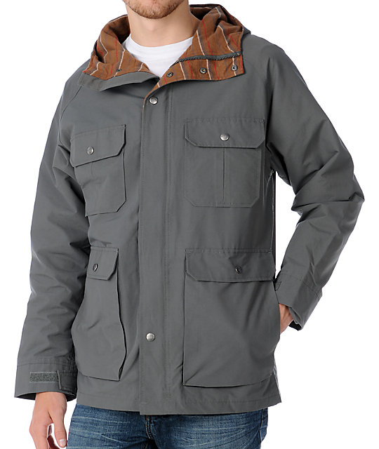 Brixton Ridge Grey Parka Jacket