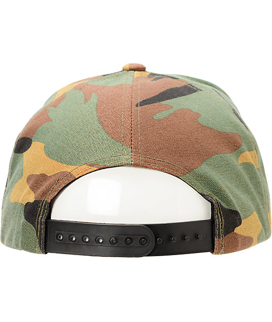21f8e3cf425 ... Brixton Rift Camo Snapback Hat