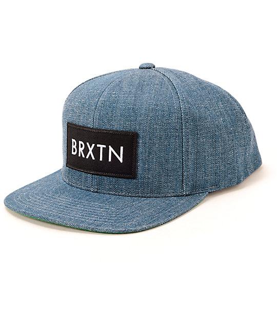bcae06dde90 Brixton Rift Denim Snapback Hat