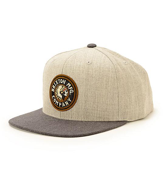 Brixton Rival Snapback Hat  ed4e04d6c81