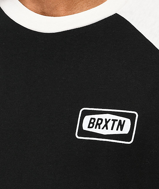 Brixton Rockford Baseball Black T-Shirt