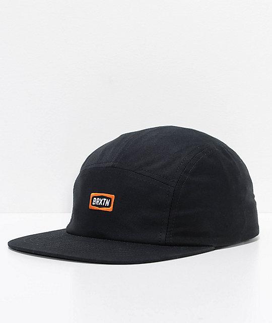 Brixton Rockford Black Strapback Hat  63a8afc7c89