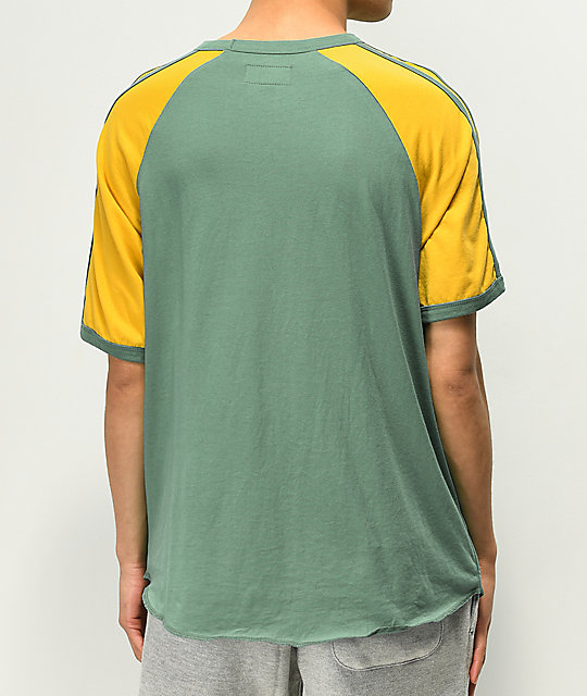 Brixton Rogers II Green & Yellow T-Shirt
