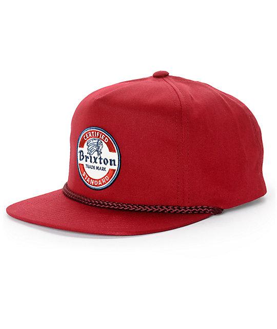 81d477cff50 Brixton Soto Chord Snapback Hat