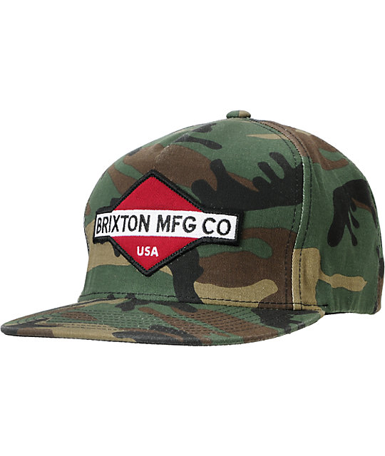 dec8d36038e4e Brixton Station III Camo Snapback Hat