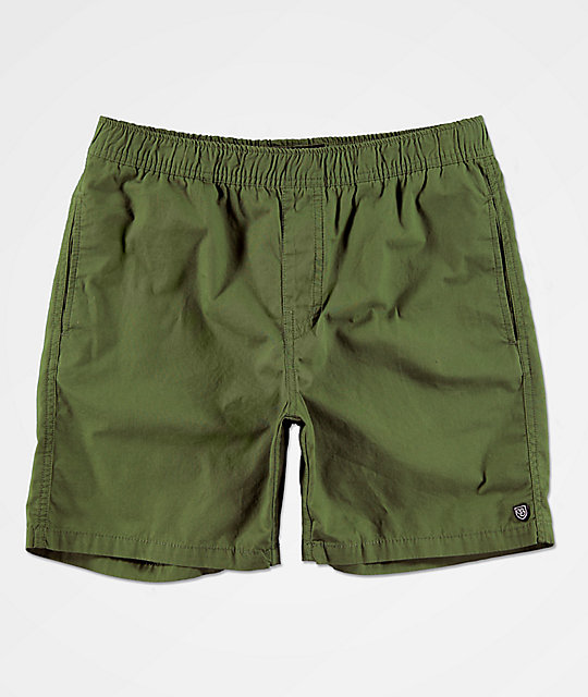 eb5f44869c2 Brixton Steady Green Elastic Waist Shorts | Zumiez