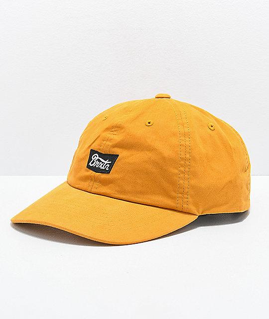 2ac3e8b2 Brixton Stith Mustard Strapback Hat | Zumiez