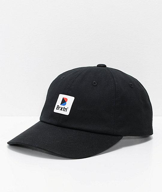 Brixton Stowell Black Strapback Hat  bcc5327d7f2