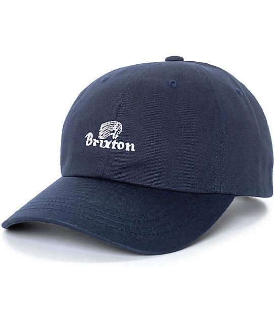 ed1ec566409 ... discount brixton tanka unstructured navy strapback hat 56ff1 87377
