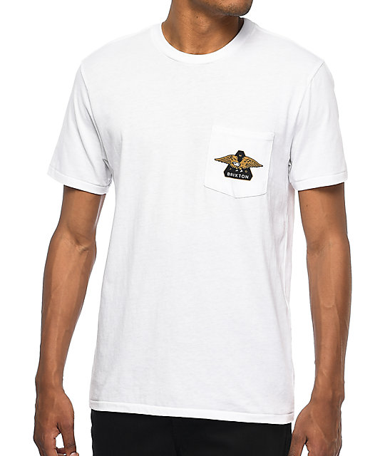 Brixton Turret White Pocket T-Shirt
