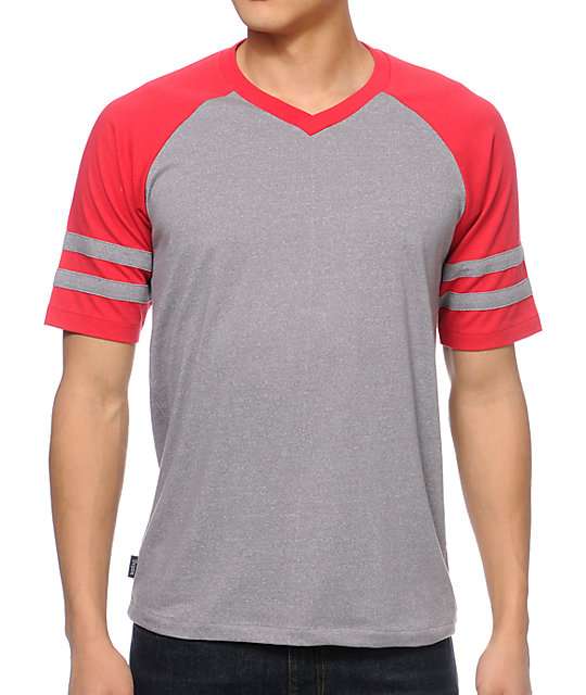 Brixton Victor Grey Knit T-Shirt