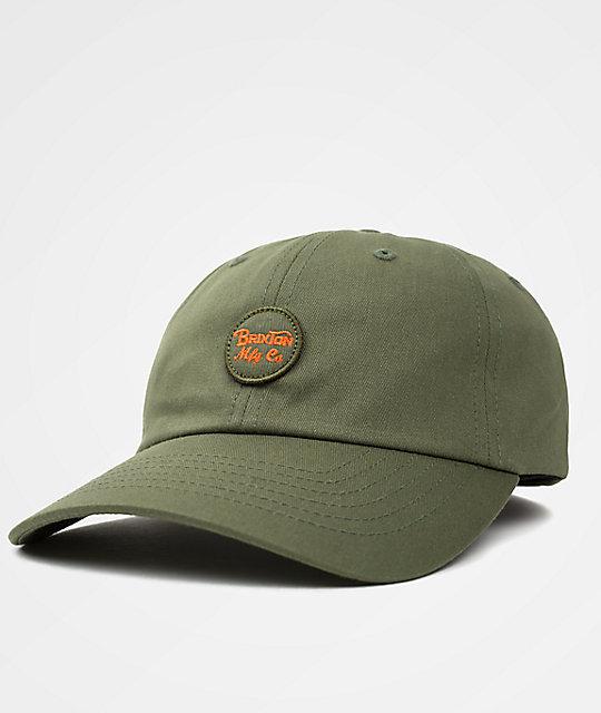 Brixton Wheeler Olive   Orange Dad Hat  d4f72730399