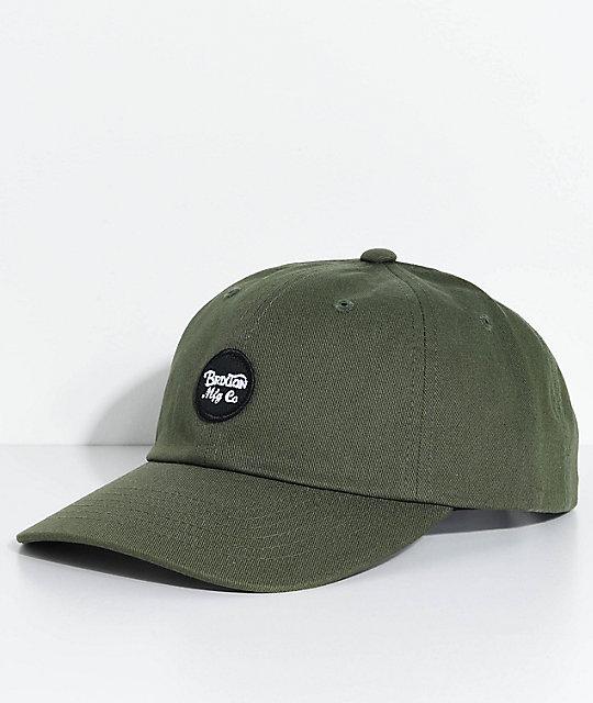 8d78d206e Brixton Wheeler Olive Baseball Hat