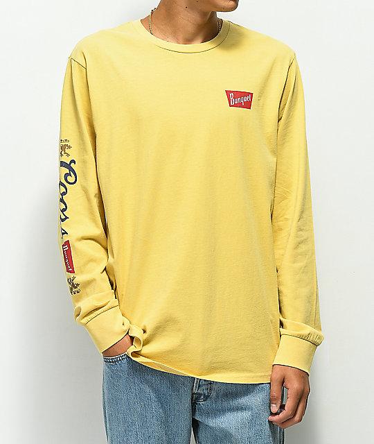 Brixton x Coors Banquet Primary Buff Long Sleeve T-Shirt  2dab86b206a