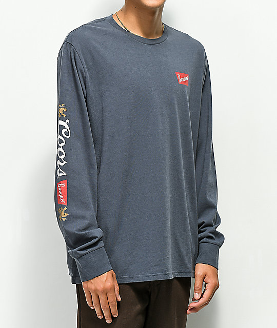 Brixton x Coors Banquet Primary Navy Long Sleeve T-Shirt