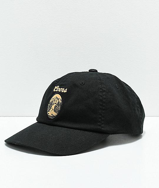 6f65a85ab35 Brixton x Coors Filtered Black Strapback Hat