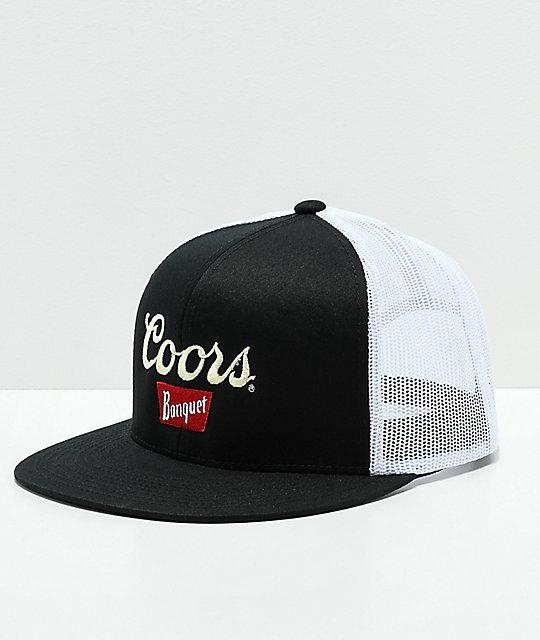 6163e3b9185b2 Brixton x Coors Sig II Black   White Trucker Hat