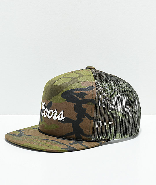 e3b80d3e152 Brixton x Coors Signature Camo Trucker Hat