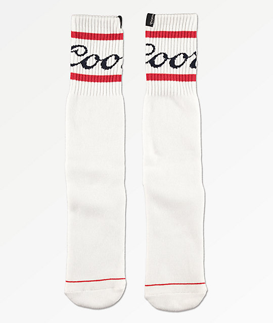 Brixton x Coors Signature calcetines blancos