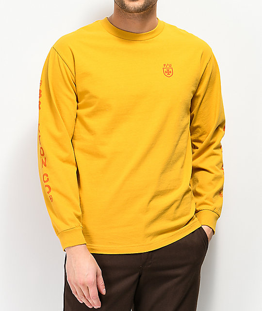 Brixton x Independent Frame Yellow Long Sleeve T-Shirt