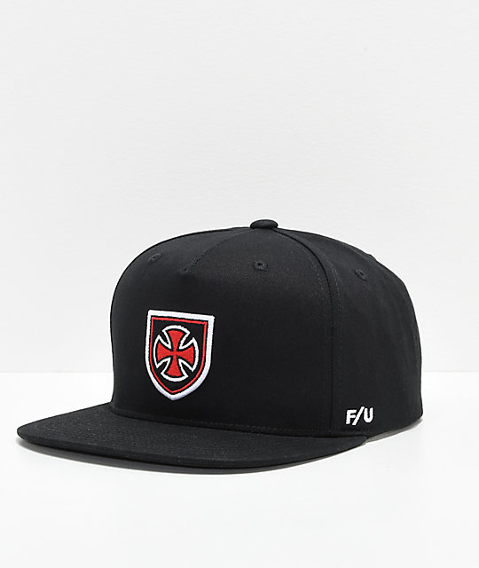 Brixton x Independent Hedge Cross Black, Red & White Snapback Hat