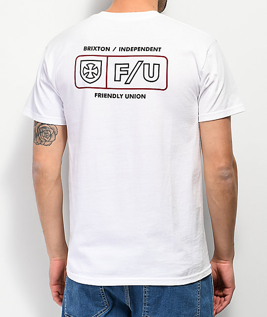 Brixton x Independent Turnpike White T-Shirt