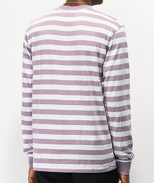 Broken Promises Do Better Purple & White Stripe Long Sleeve T-Shirt