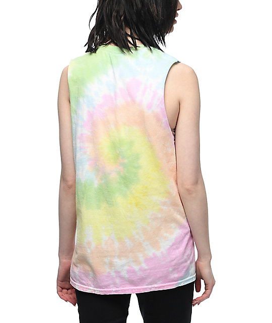 Broken Promises Everyday Is Cloudy camiseta sin mangas con efecto tie dye