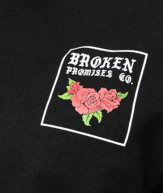 Broken Promises Forever Means Nothing Black Long Sleeve T-Shirt