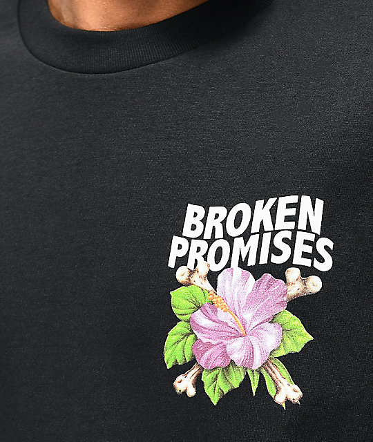 Broken Promises Heart On Fire camiseta negra