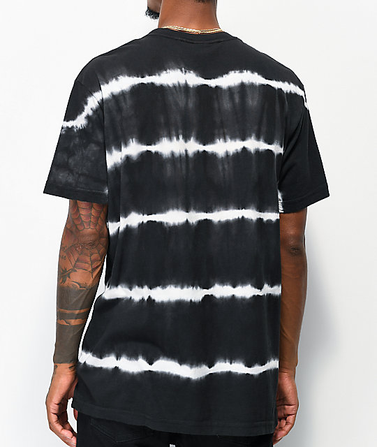 Broken Promises Pressure Black & White Stripe Tie Dye T-Shirt