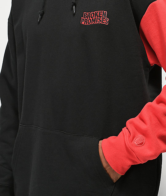 Broken Promises Red Handed Black & Red Hoodie