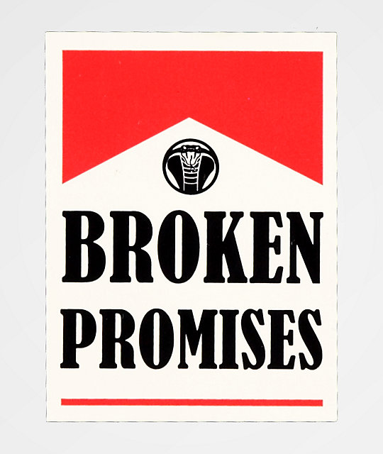 Broken Promises Round Up Sticker
