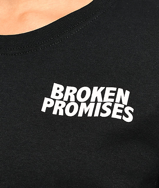 Broken Promises Silhouette Black Long Sleeve T-Shirt